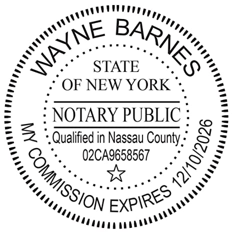 Amazon Round Notary Pre Inked Stamp For State Of New York