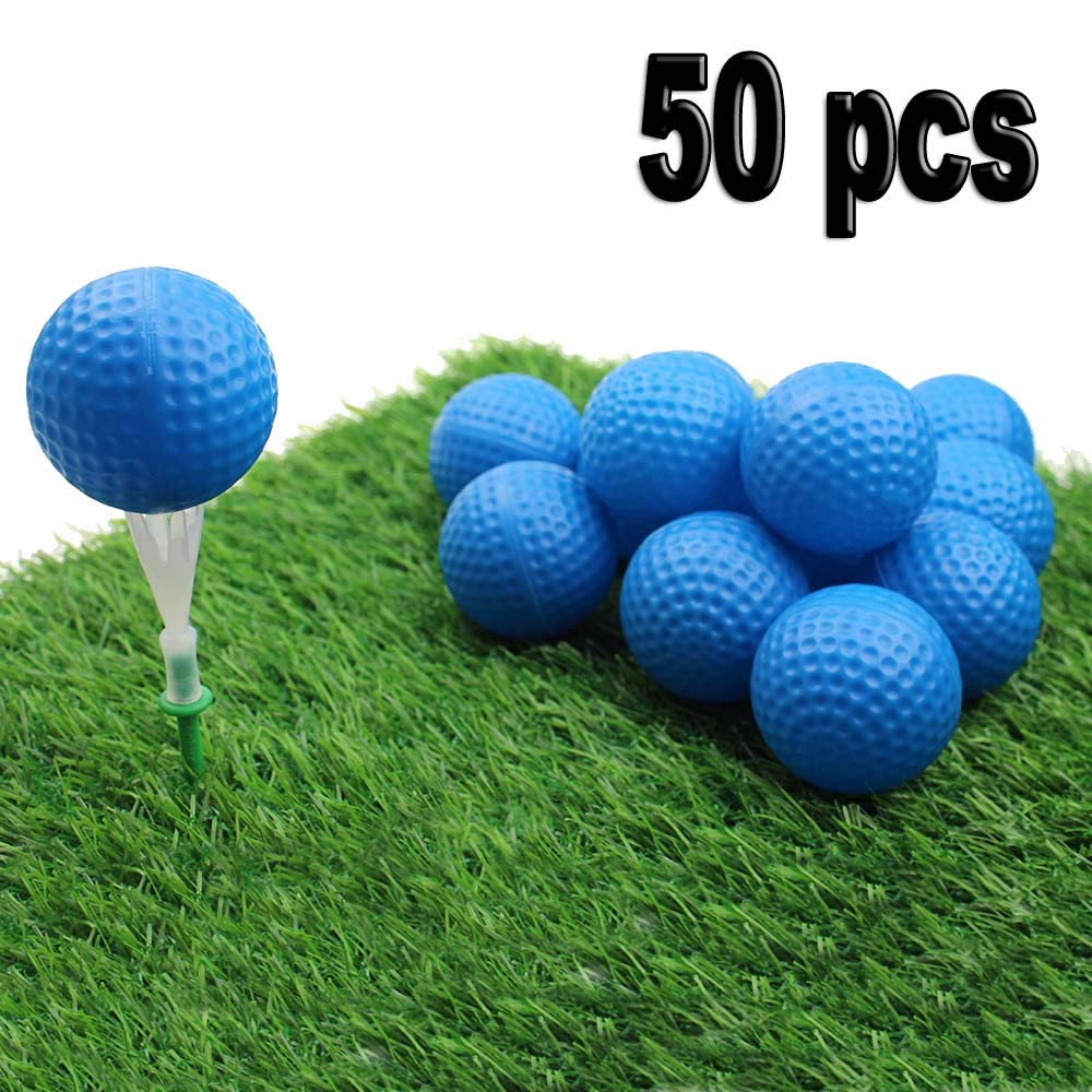 Kofull Golf Practice Ball, Hollow Golf Plastic Ball for Indoor Training -Pack of 50pcs (4 Colors Available) (Blue)... by Kofull