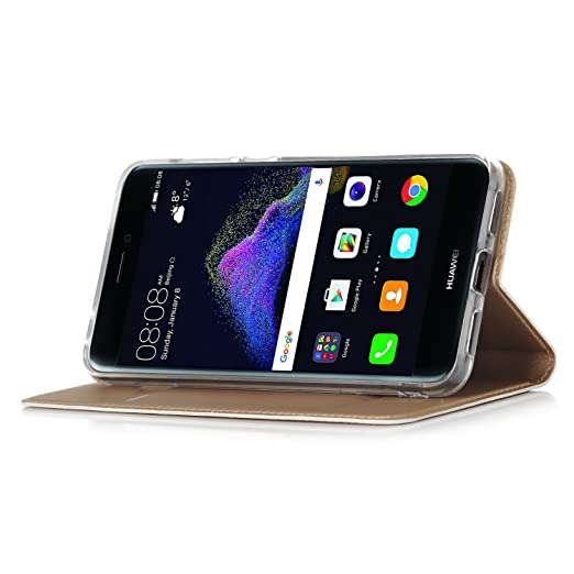 67 opinioni per Huawei P8 Lite 2017 Cover- IVSO Slim Flip Cover Custodia per Huawei P8 Lite 2017