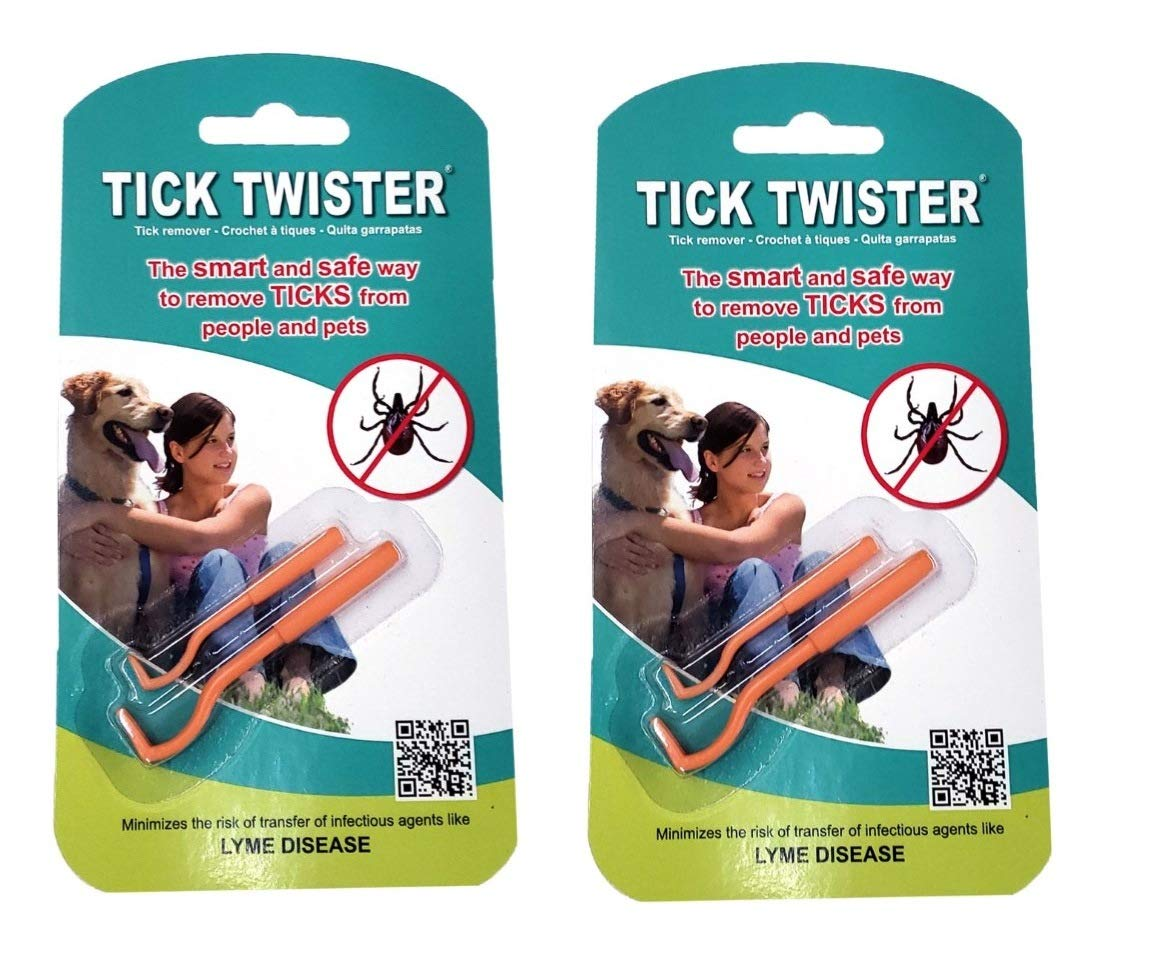 Tick Twister 00100-O Tick Remover Small and Large, Orange, Double Set, Two, 2 Pack