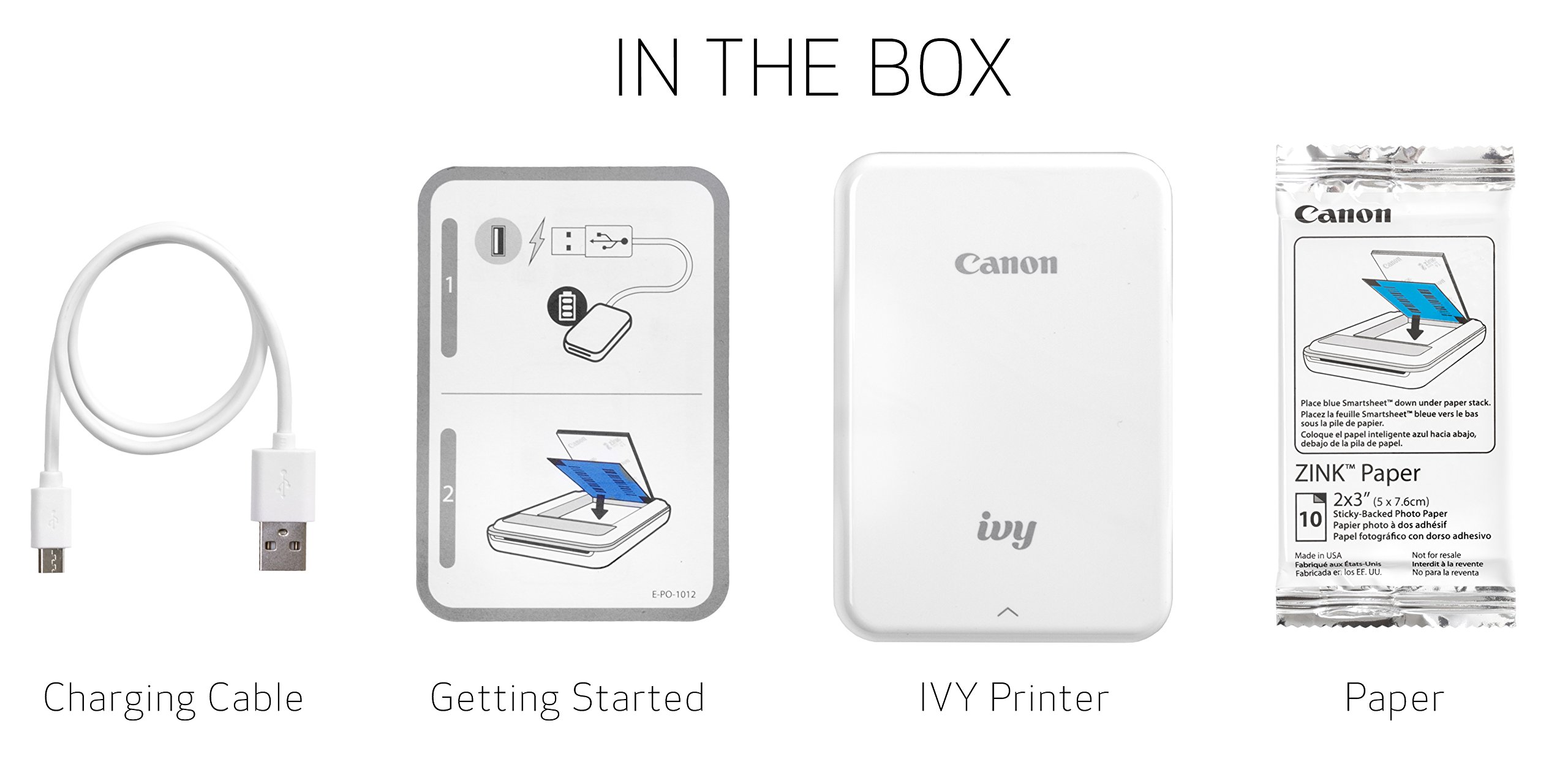 Canon IVY Mobile Mini Photo Printer through Bluetooth(R), Slate Gray by Canon (Image #5)