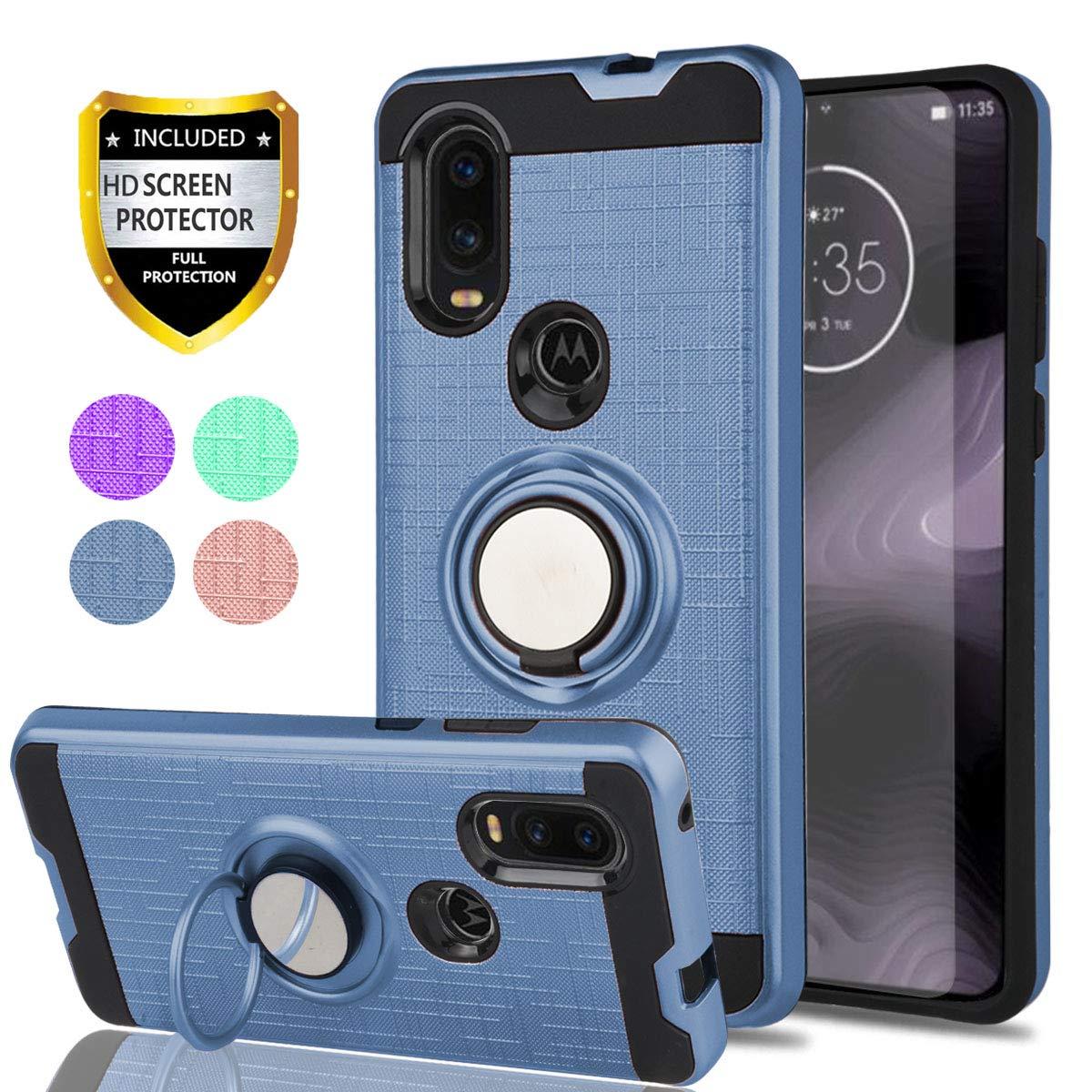 Funda con pie para Motorola One Vision (azul)