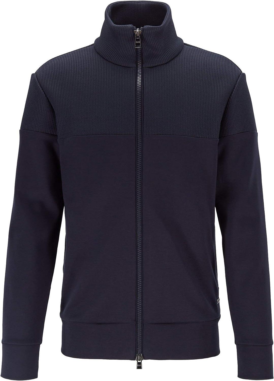 Hugo Boss Mens Shepherd Regular Fit Full Zip Jersey Sweatshirt