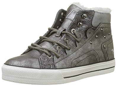 Baskets Hautes High Sneaker Femme Top Mustang HqBtwzp