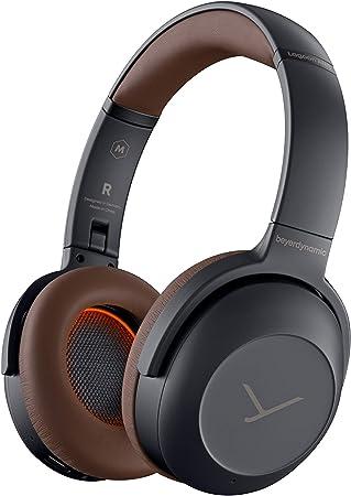 Beyerdynamic - Auriculares Bluetooth Lagoon ANC Explorer con cancelación de Ruido Activa y personalización de Sonido (Gris/marrón)