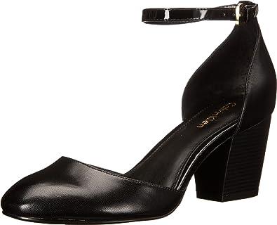Calvin Klein Women's Killian Black Leather Sandal