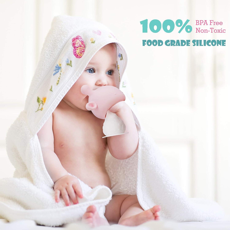 BPA Free Teethers Green Mushroom Teether Silicone Baby Teething Toys Infant Rattling Teether Soothing Pacifier