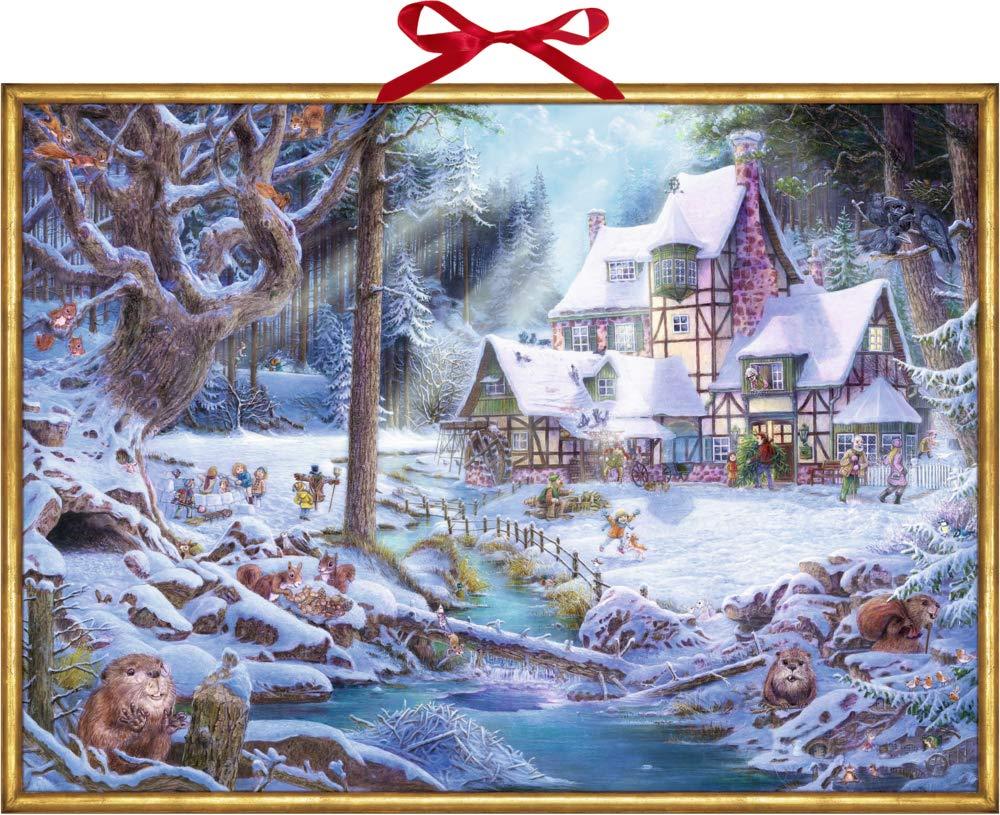 Wandkalender - Weihnachten auf dem Mühlenhof Kalender – 14. September 2018 Pirapakar Kathirgamalingam Coppenrath B077Y63MJ4 Jahreszeiten: Winter