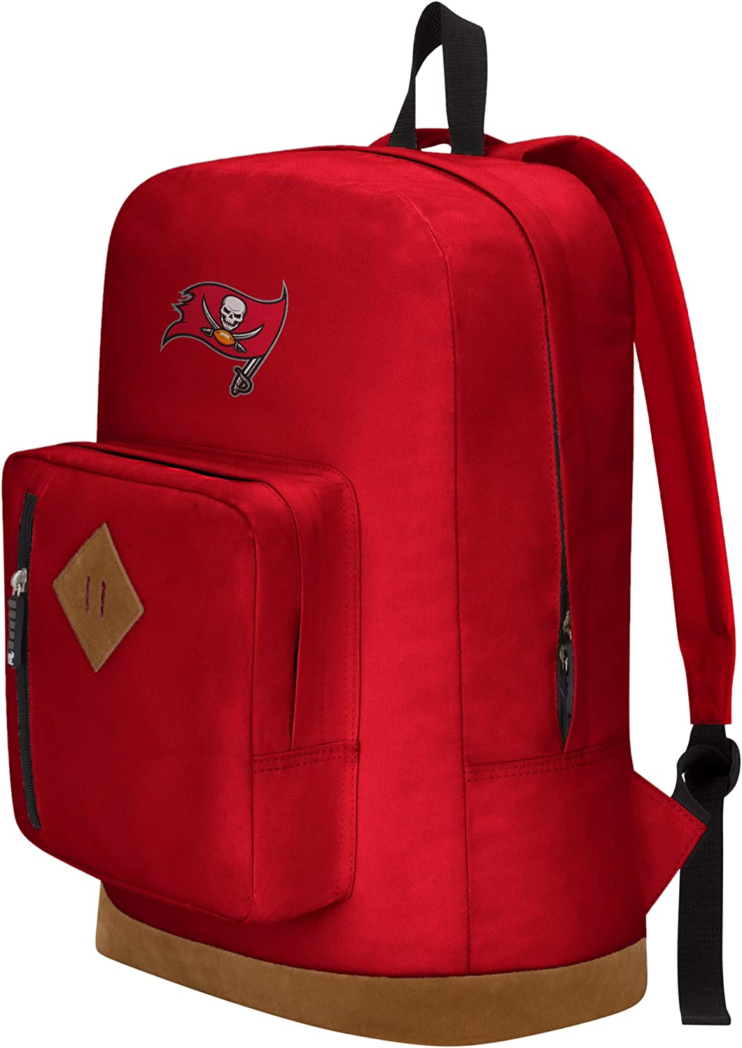 18 x 5 x 13 Red Officially Licensed NFL Tampa Bay Buccaneers Playbook Backpack
