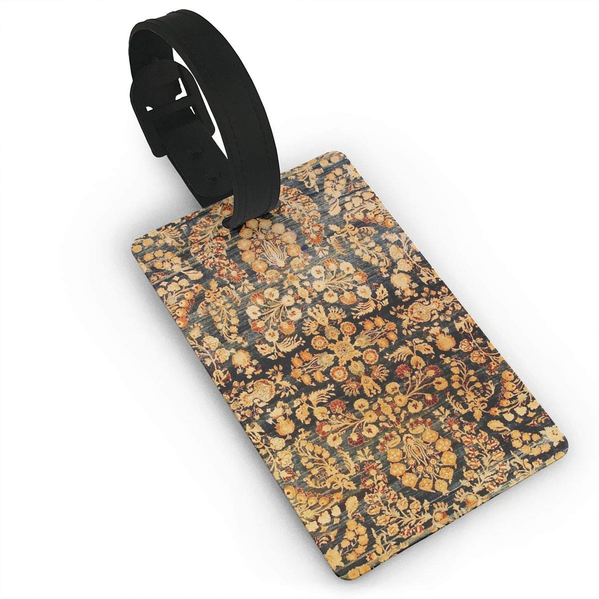 Antique Persian Khorassan Rug Luggage Tags Suitcase Labels Bag Travel Accessories Set of 2