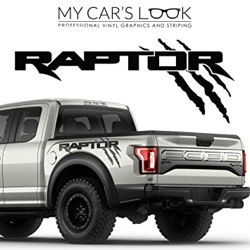 Amazoncom Ford Raptor Exterior Graphics Kit Decal Sticker - Ford raptor decals
