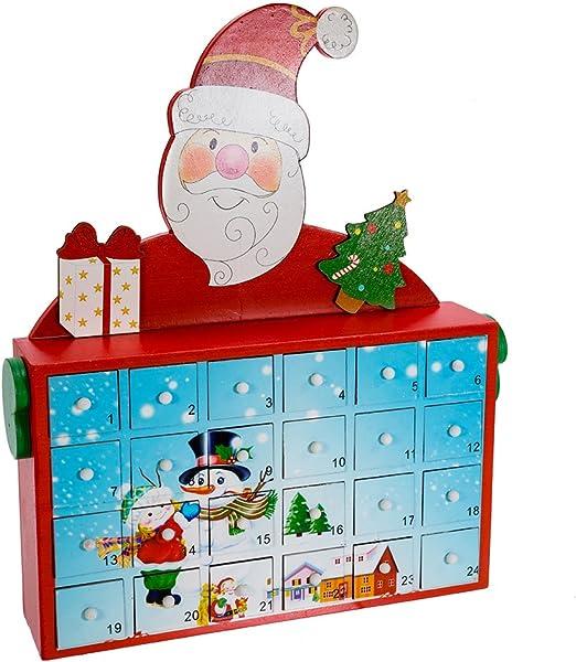 C5856 Adler 12 Santa Advent Calendar Inc Kurt S