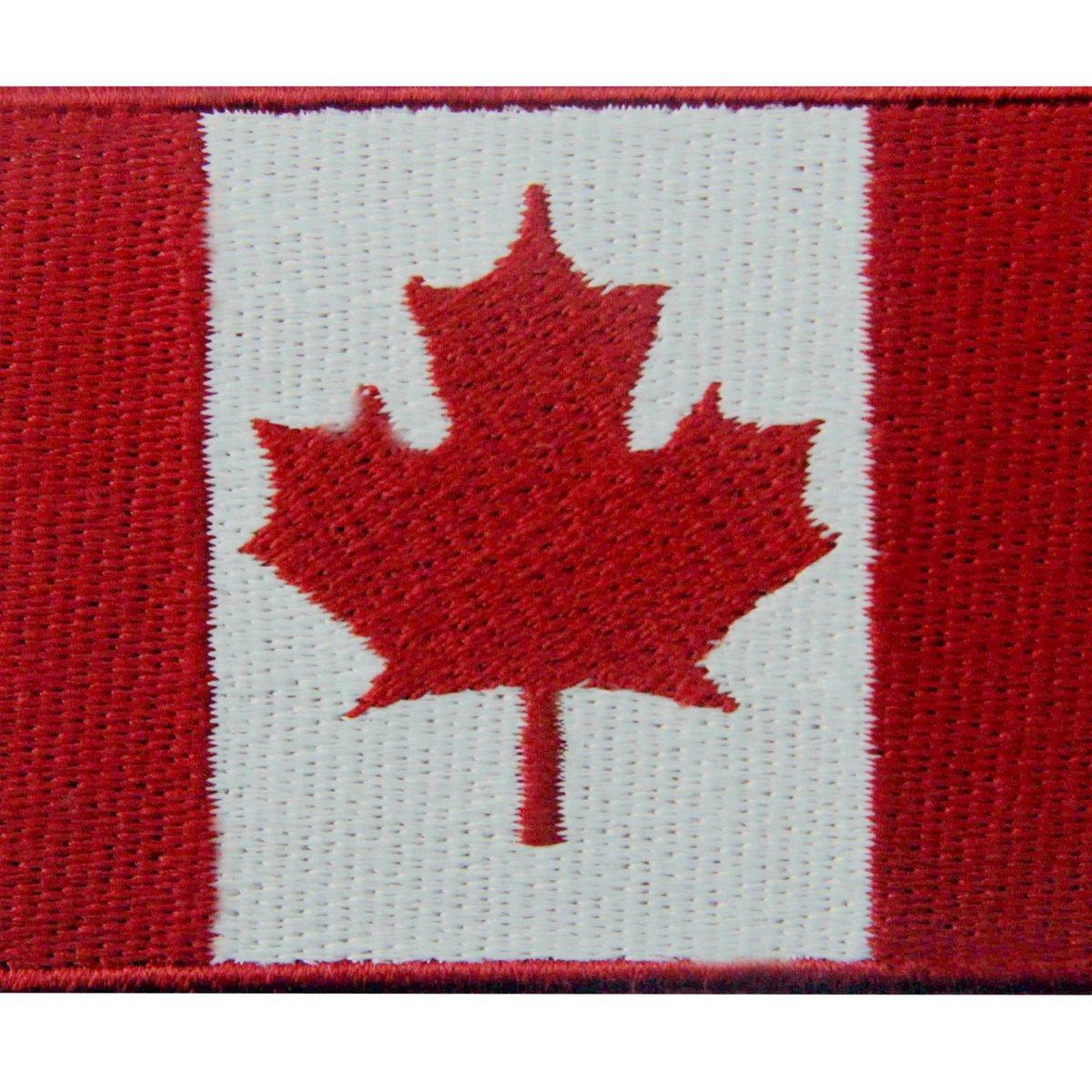 Bandiera del Canada Foglia di acero canadese Emblema Nazionale Termoadesiva Cucibile Ricamata Toppa