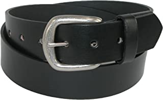 product image for Boston Leather Men's Big & Tall Leather Stretch Belt with Hidden Elastic