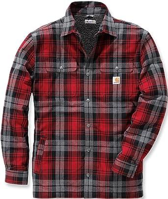 Carhartt .102333.608.s007 Hubbard Sherpa Lined camisa para hombre, color: rojo oscuro, tamaño: XL: Amazon.es: Amazon.es