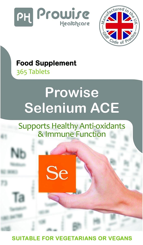 Prowise Selenium ACE 365 Tablets - Suplemento de selenio diario de One Per Day con vitaminas A, C y E