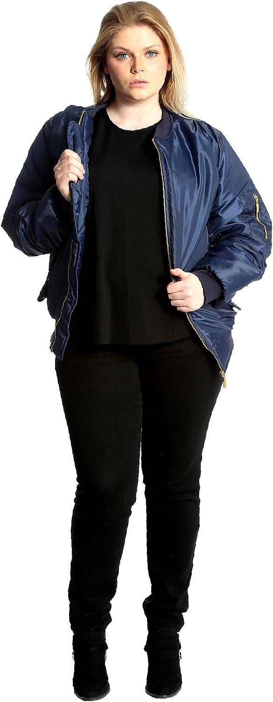 Nouvelle Ladies Plus Size Padded Bomber Jacket