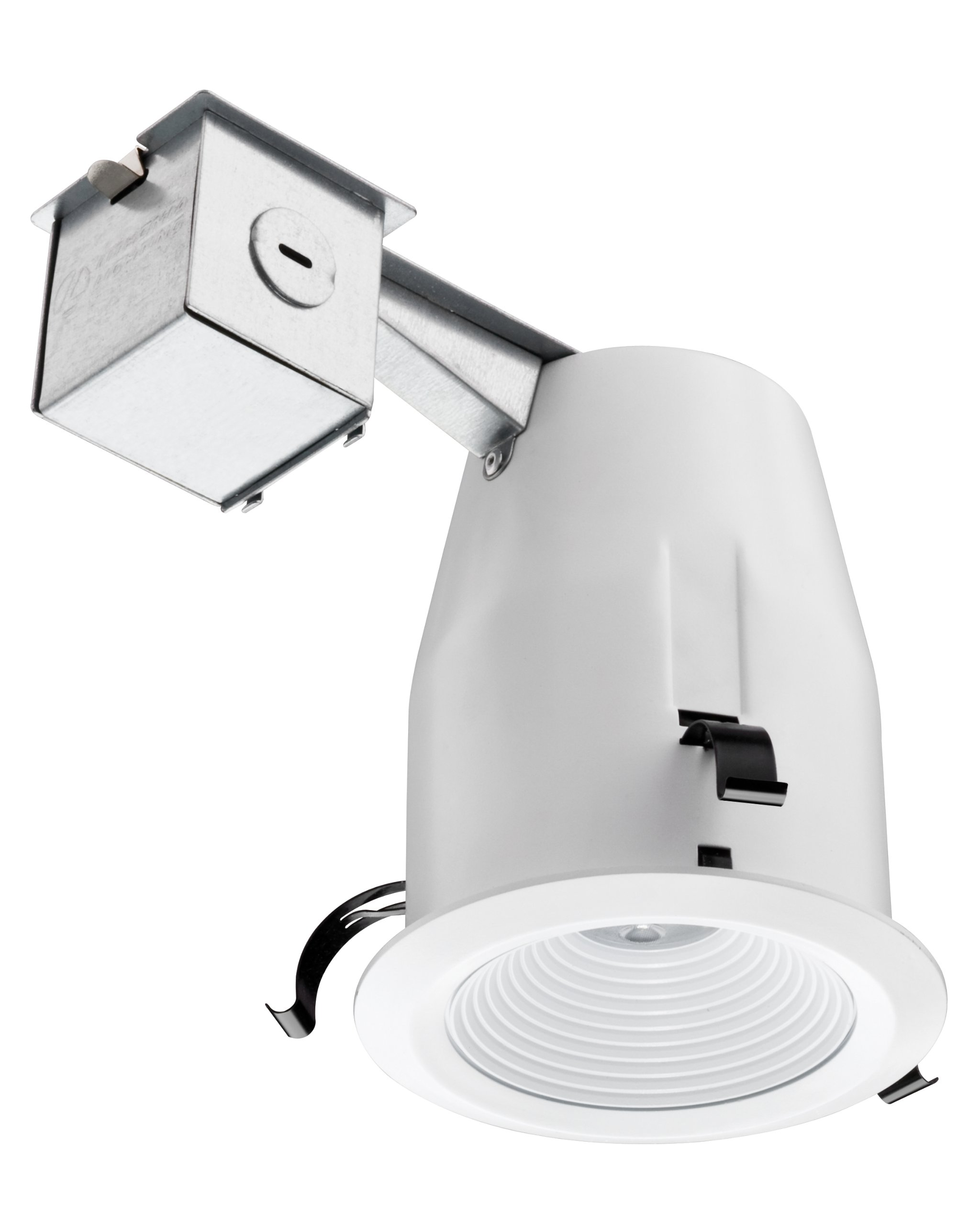 Lithonia Lighting 4-Inch Recessed Baffle Integrated LED Lighting Kit, Matte White
