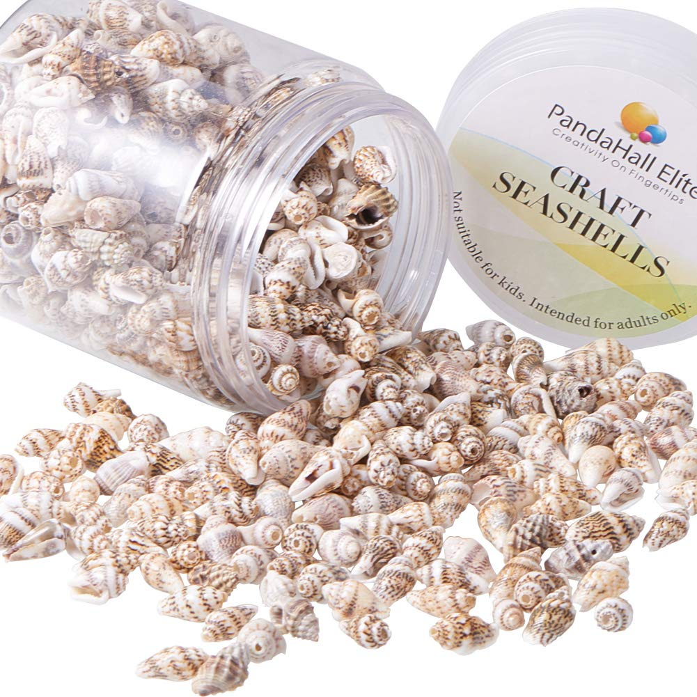 About 130g Home Decoration Fish Tank and Vase Fillers Light Green wh-SSHEL-PH0002-06 PH PandaHall 1Box Spiral Seashells Beads Pendants Charms with Holes for Craft Making Beach Party