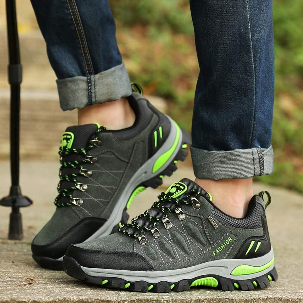 LANSEYAOJI Zapatillas de Trekking para Hombres Zapatillas de Senderismo Botas de Monta/ña Antideslizantes AL Aire Libre Zapatillas de Camping Zapatillas de Deporte EU35-47