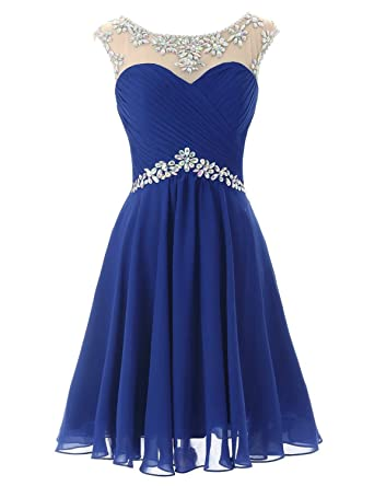 Belle House Royal Blue Homcoming Dresses 2017 Short For Juniors Chiffon Prom Gown
