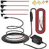 Dash CAM Hardwire Kit Mini Alambre Duro Coche Cargador Kit de Cable USB 12V - 24V a 5V para cámaras Dash GPS
