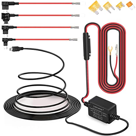 Dash Cam Hardwire Kit Mini USB Hard Wire Car Charger Cable Kit 12V- Hard Wiring Dash Cam on