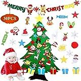 OUZIGRT Felt Christmas Tree, DIY Felt Christmas Tree with 30pcs Ornaments and Merry Christmas Banner, Xmas Gifts for…