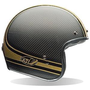 Bell Custom 500 Carbon Open Face Motorcycle Helmet