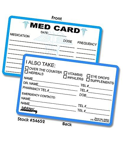 ICE (en caso de emergencia) y MED (emergencia médica) tarjeta de ...