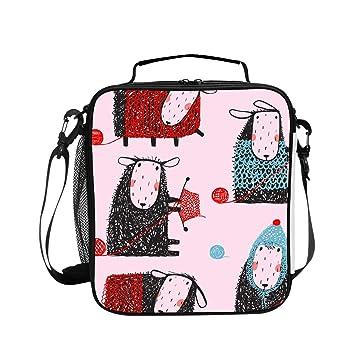 0e9ae6ef3292 Amazon.com - Levendem Waterproof Picnic Tote Knitting Crafty Sheep ...