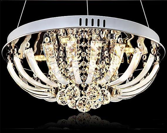 Mkj led lampadario di cristallo di lusso pendente nobile ristorante