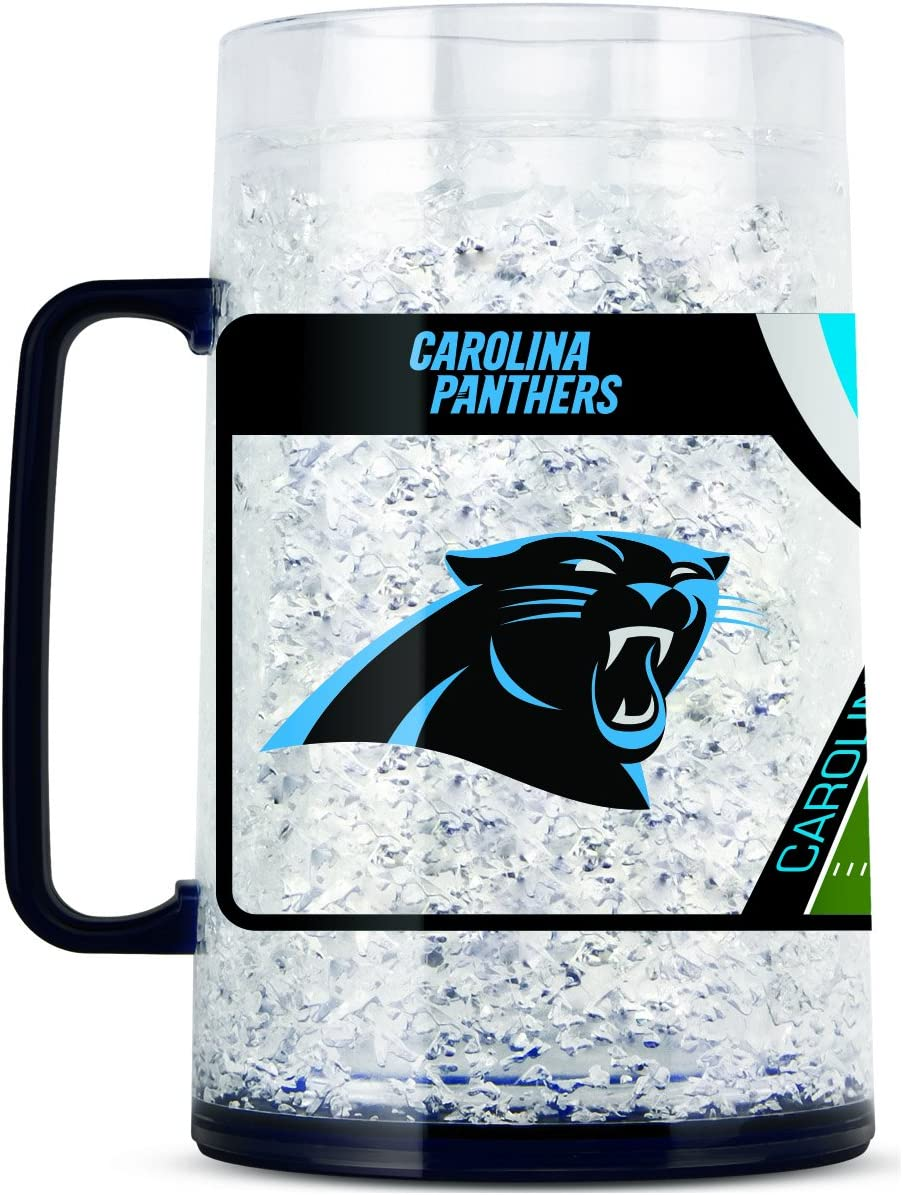 NFL Carolina Panthers 38oz Crystal Freezer Monster Mug