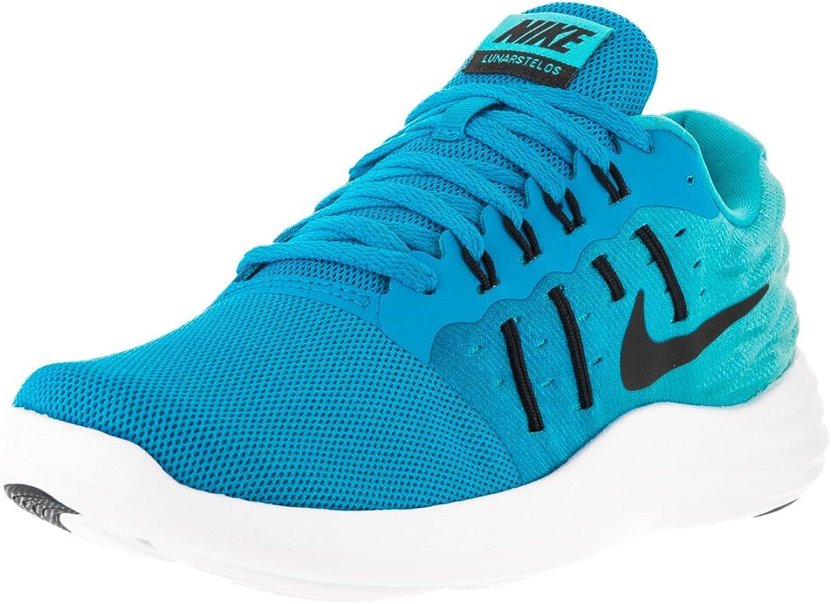 Nike Womens Lunarstelos Blue Glow/Black/Gmm Blue/White Running Shoe 7 Women US 71gNOq3sENLUL1200_