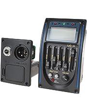 OriGlam 5 bandas de ecualizacion pre AMP Equalizer Pickup, guitarra electrica y acustica preamplificador con afinador afinador pantalla LCD y control de volumen para guitarras acústicas Kit completo