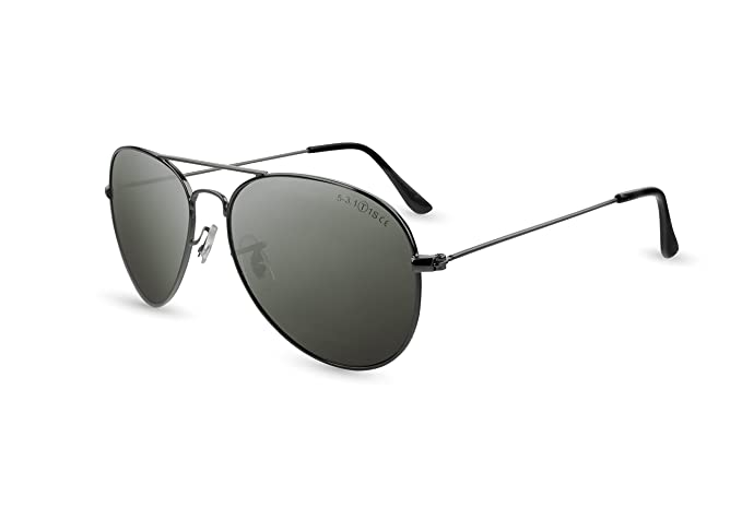 Pegaso Aviator, Gafas de Sol Unisex, Negro, 55: Amazon.es ...