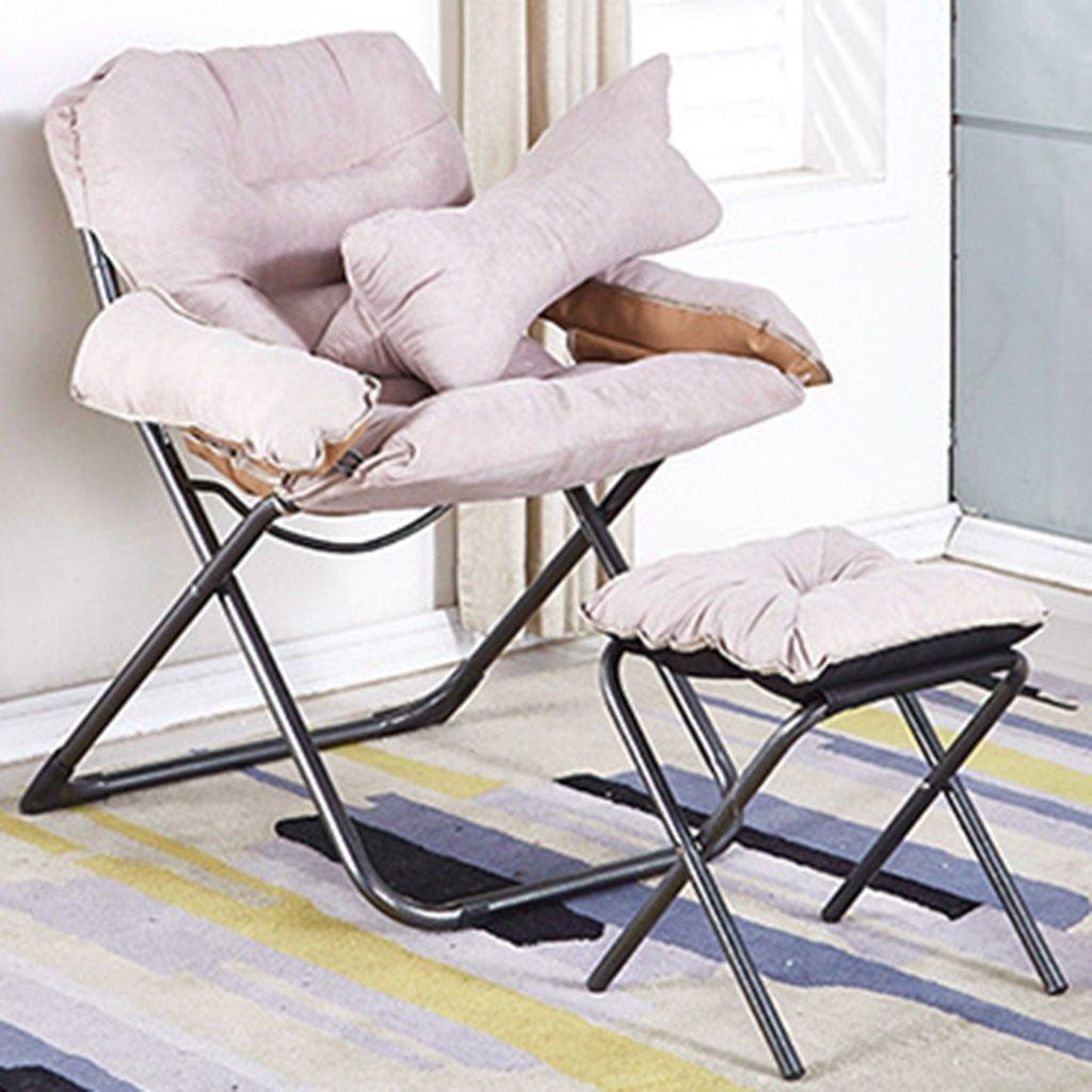QRFDIAN Im Freien Klappstuhl Licht Recliner zufällige Schauspieler Stuhl Mazar Strand Angeln Stuhl Skizze Stuhl tragbaren Stuhl (Farbe : Weiß)