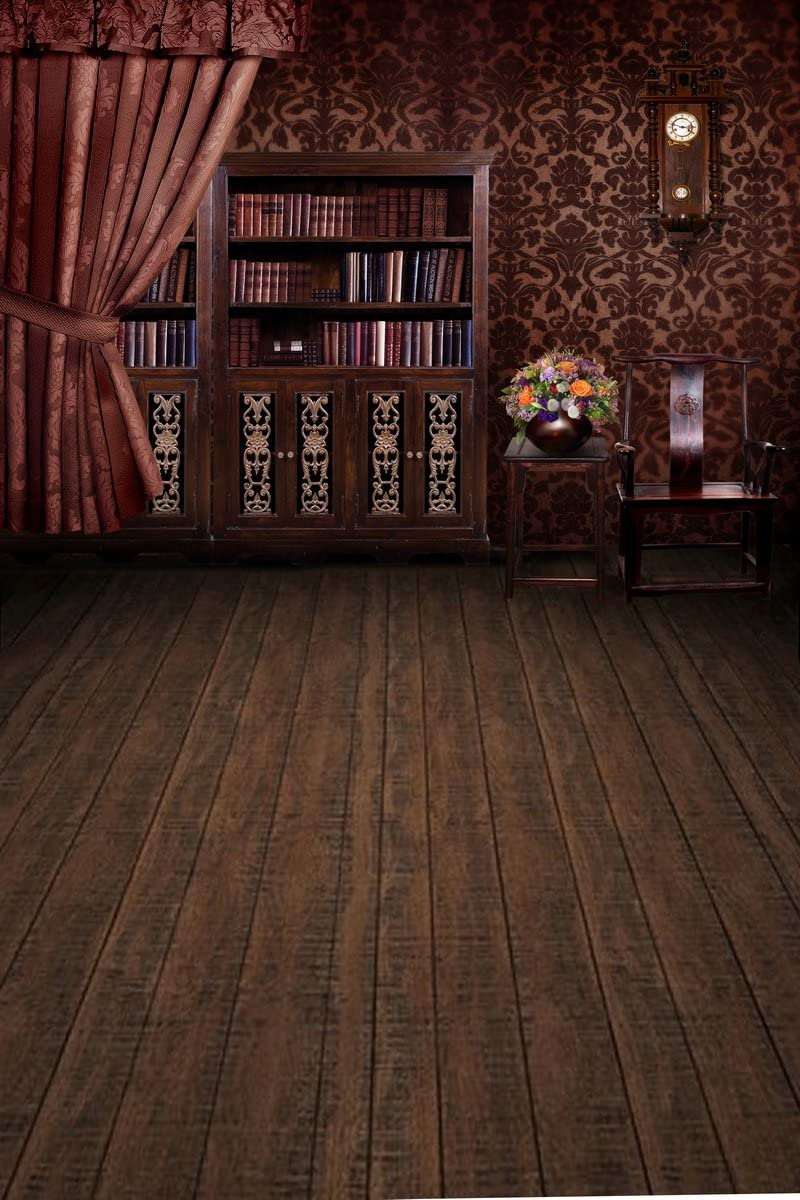 Computer Printed Photography Background Backdrop 98.4 in 59 in Vintage Room Books 1.52m W H