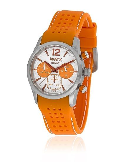 Watx RWA0485 - Reloj para mujer con correa de caucho, color blanco/gris