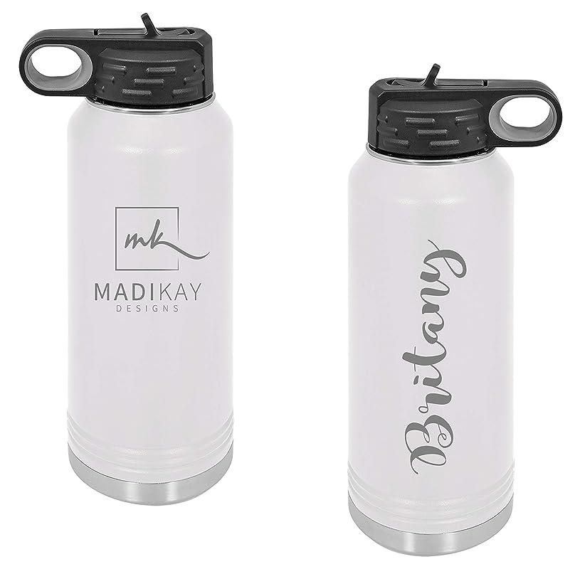 -PCWB-LP-GETITGIRL Personalized Metal Insulated Water Bottle Engraved Metal Water Bottle Custom Metal Water Bottle Water bottle with straw