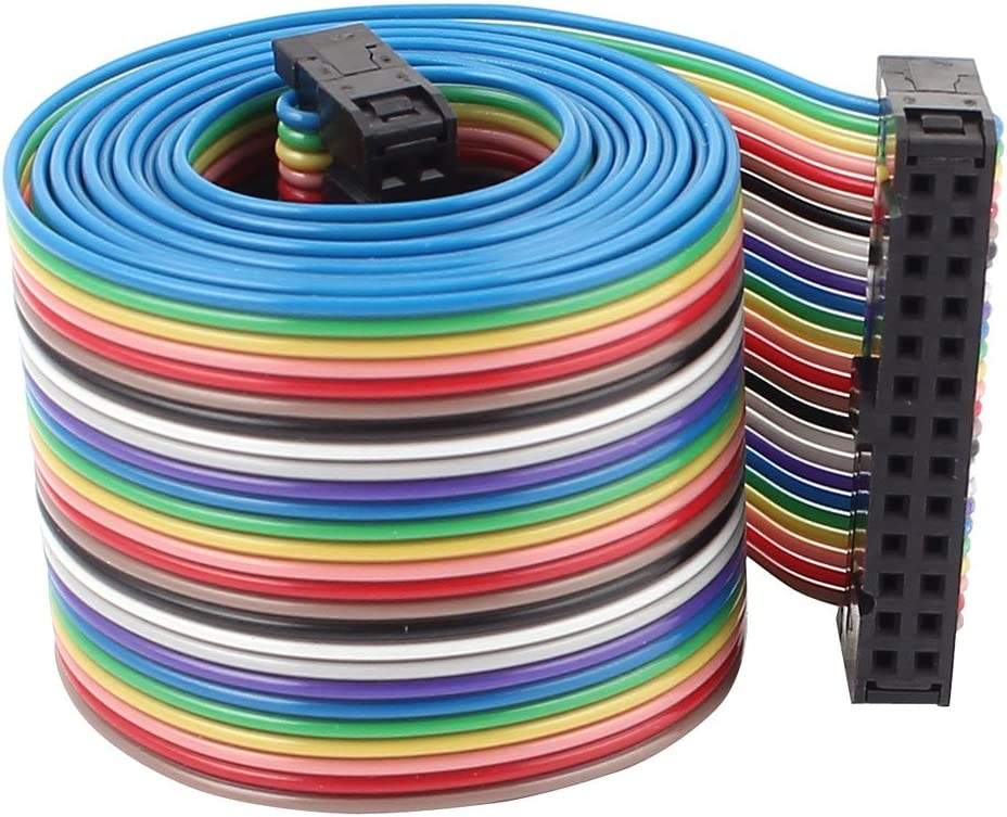 Cable 2.54mm 26 Pins Flat Ribbon 118cm Uxcell
