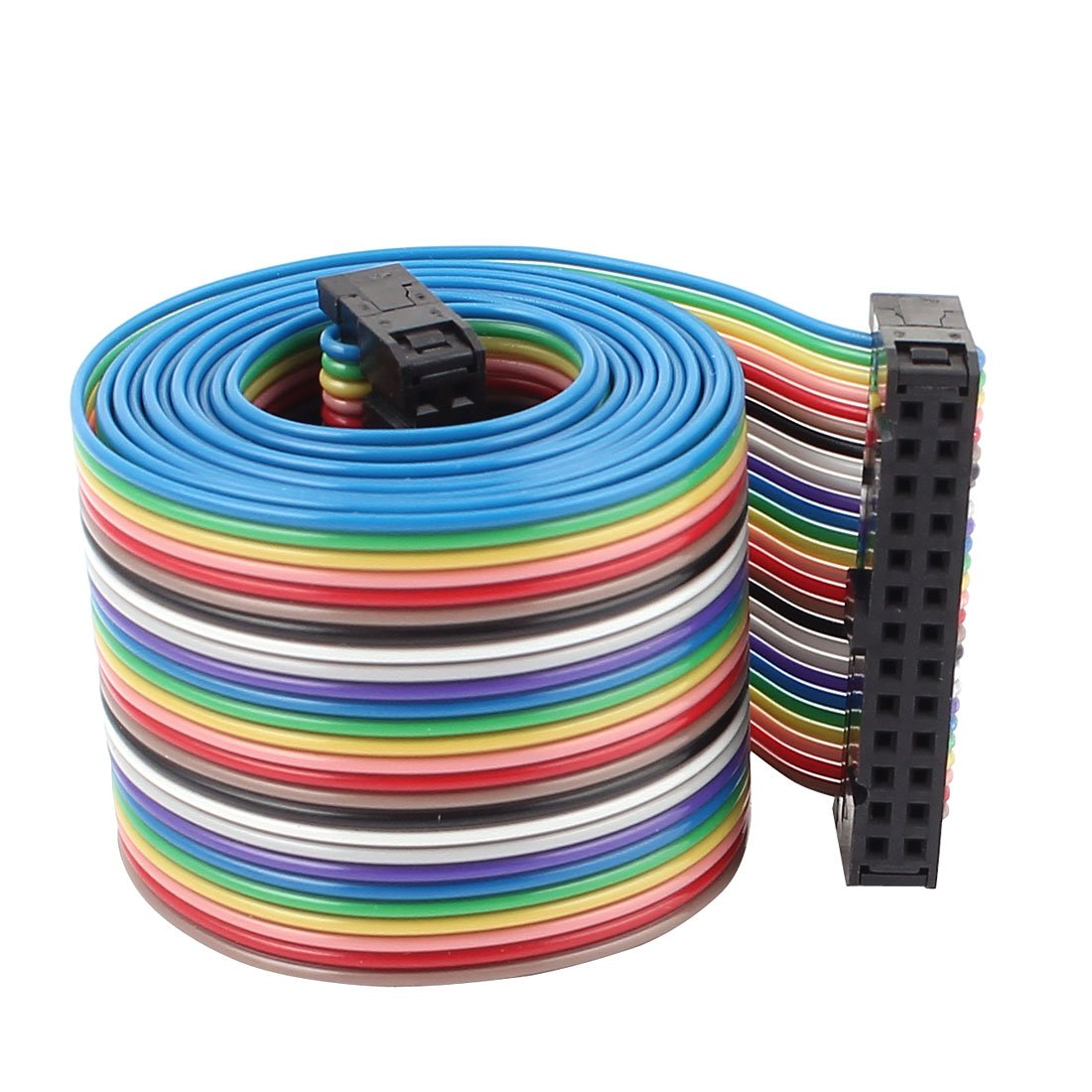 Amazon.com: 2.54mm 26 Pin 26 Way F/F Rainbow IDC Flat Ribbon Cable ...