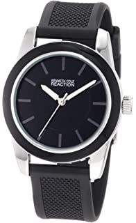 Kenneth Cole REACTION Womens RK6011 HOLIDAY-Box Set Round Black Enamel Bezel Watch