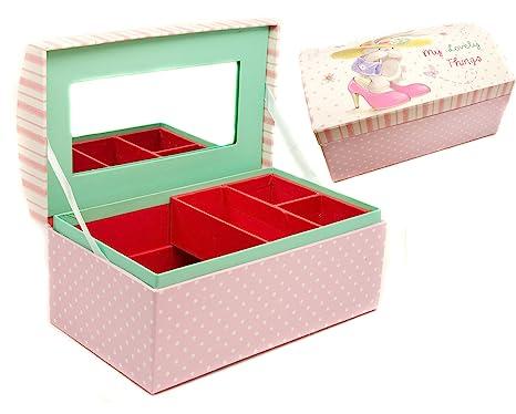 Niña BeBunni personalizada joyería o caja de recuerdos, grabado para niños regalo