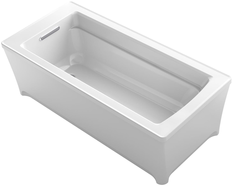 KOHLER K-2594-0 Archer 68 In. x 32 In. Freestanding Bath, White