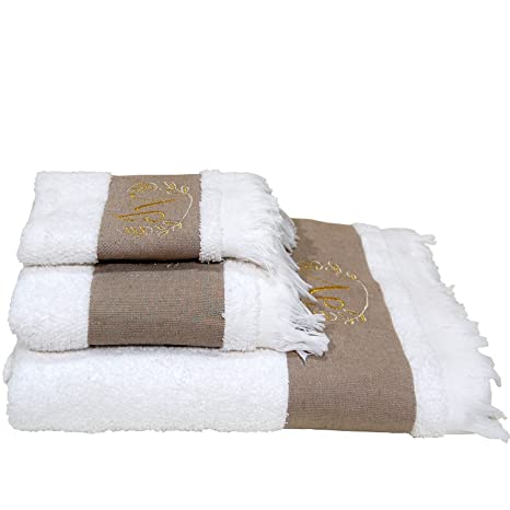 5 estrellas Top calidad Hotel Edición Blanco Juego – personalizada de toallas de ducha de –