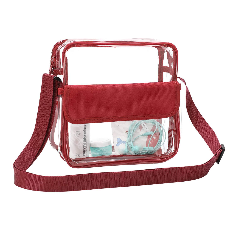 b4551d3911e7 Clear Crossbody Messenger Shoulder Bag with Adjustable Strap, Qkurt ...