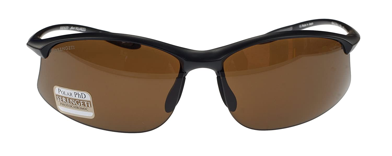 Serengeti Maestrale - Gafas de sol polarizadas y fotocromáticas (lente marrón), color negro: Amazon.es: Deportes y aire libre