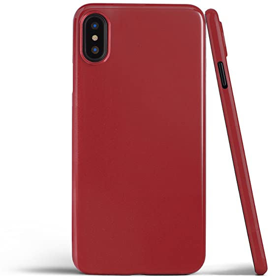 quality design 11df9 4ff79 totallee iPhone X Case, Thinnest Cover Premium Fit Ultra Thin Light Slim  Minimal Anti-Scratch Protective - for Apple iPhone X (2017) (Jet Red)