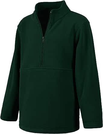 Classroom Uniforms Niños, Unisex Unisex Half-Zip Polar Fleece Pullover Chamarra de Lana